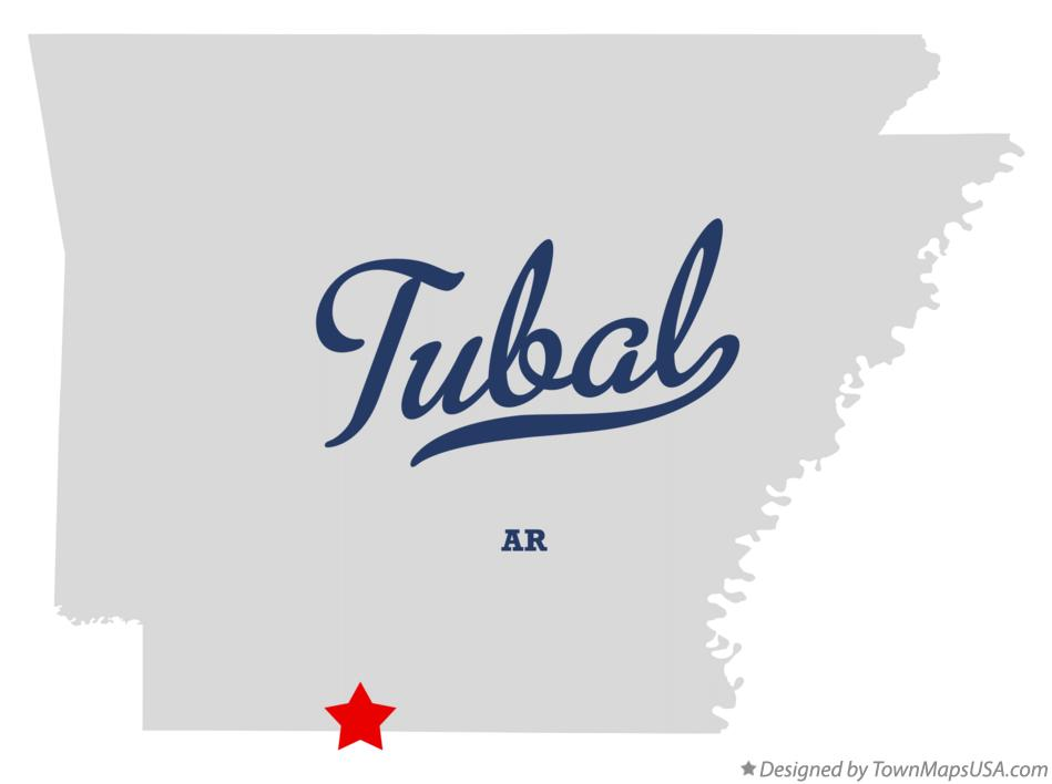 Map of Tubal Arkansas AR