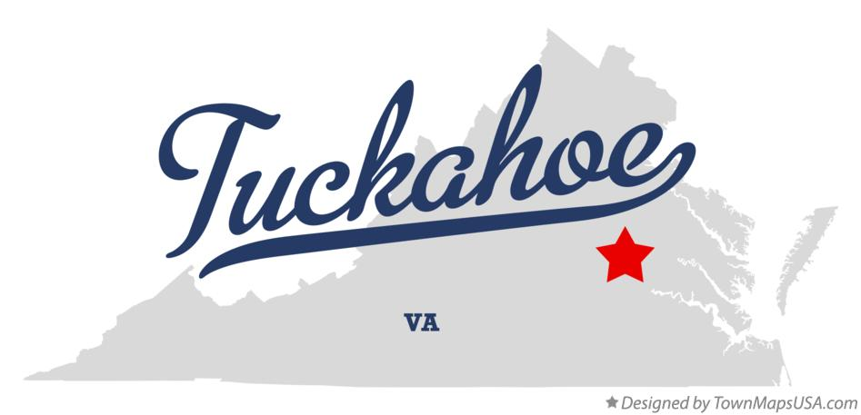 Map of Tuckahoe Virginia VA