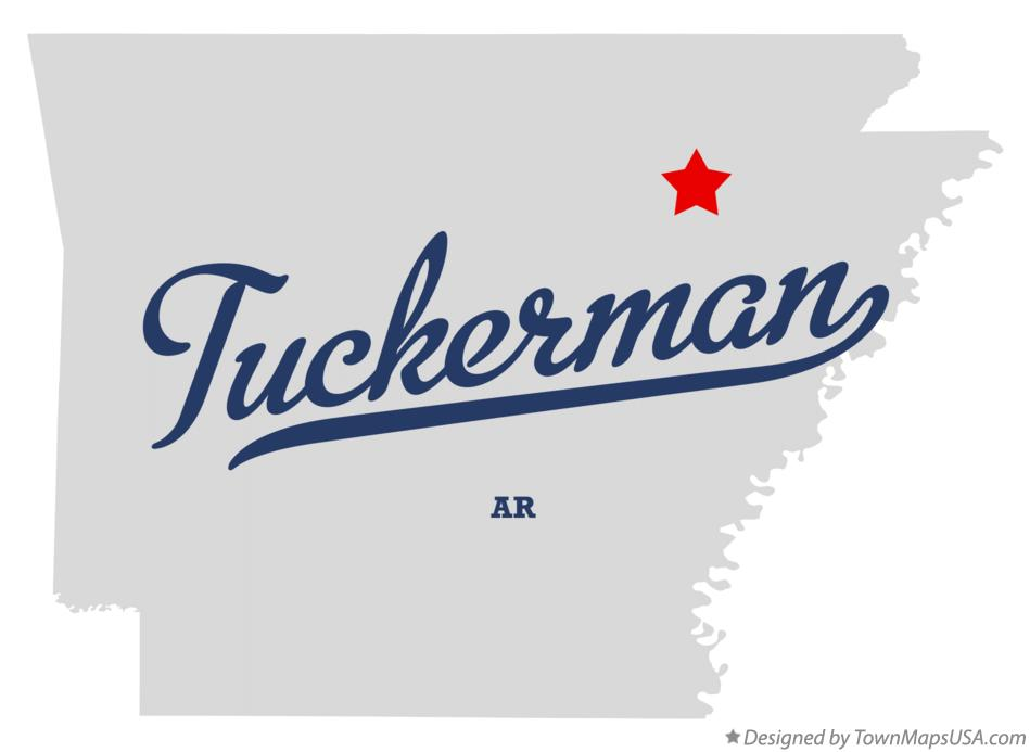 Map of Tuckerman Arkansas AR