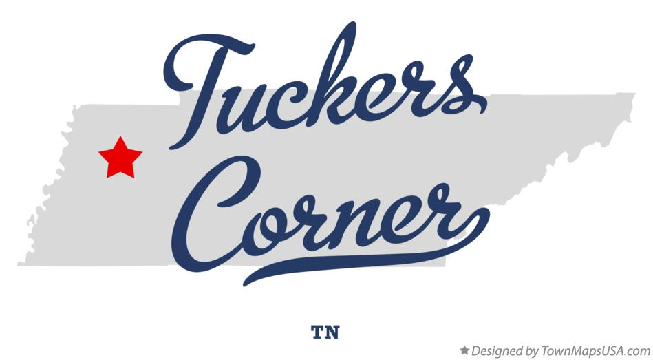 Map of Tuckers Corner Tennessee TN