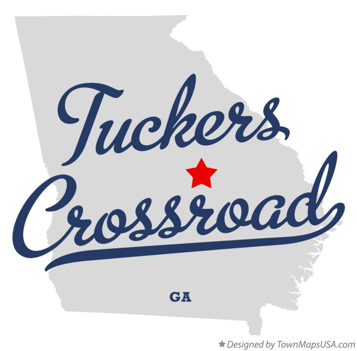 Map of Tuckers Crossroad Georgia GA