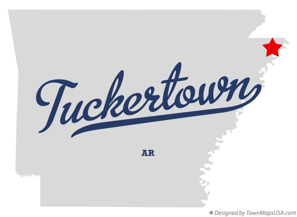Map of Tuckertown Arkansas AR