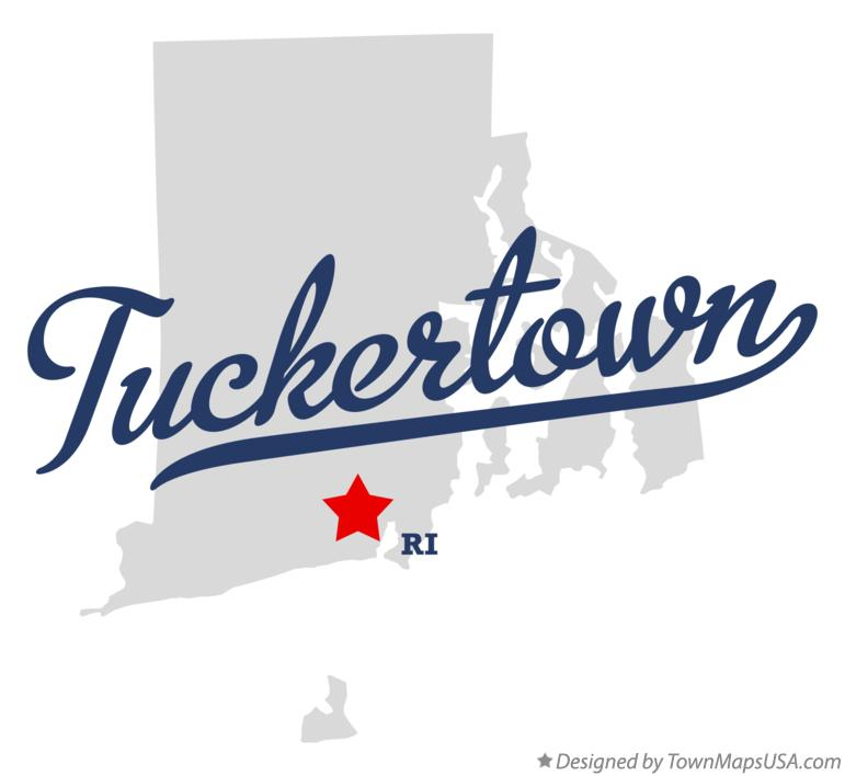 Map of Tuckertown Rhode Island RI