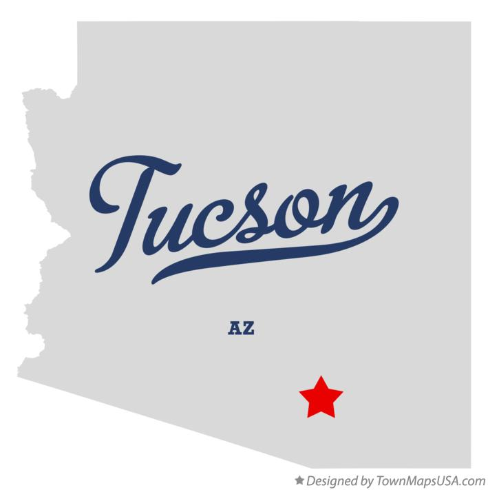 Map of Tucson, AZ, Arizona