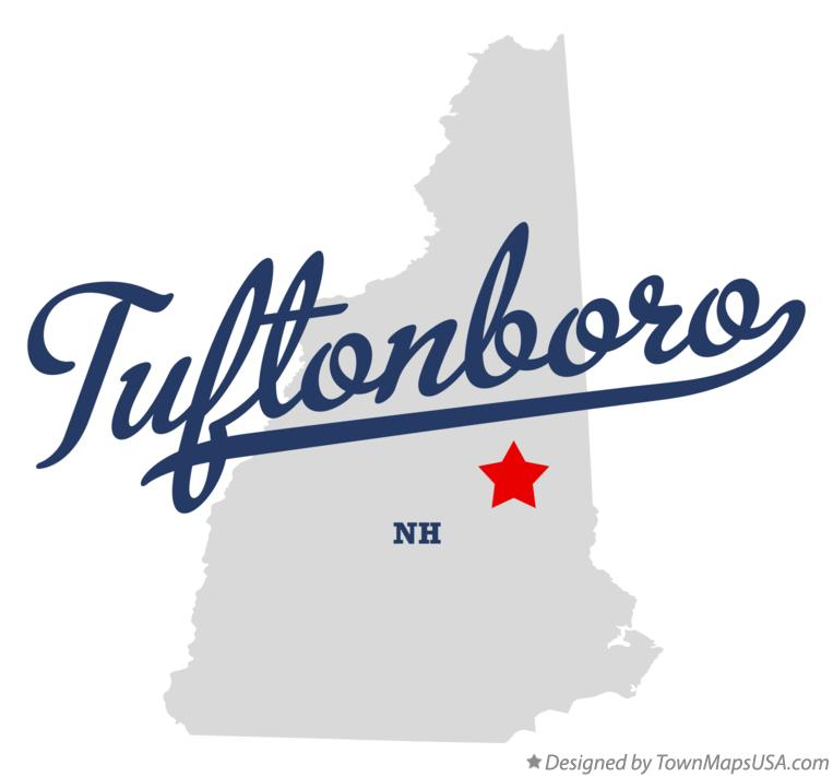 Map of Tuftonboro New Hampshire NH