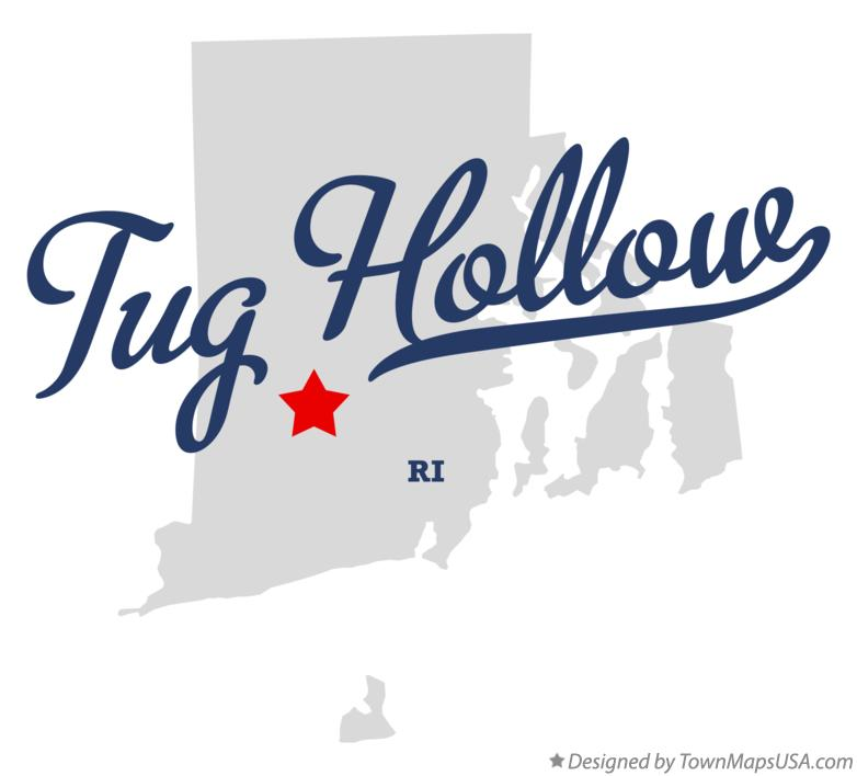 Map of Tug Hollow Rhode Island RI