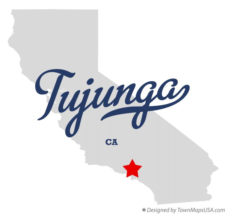 Map of Tujunga California CA