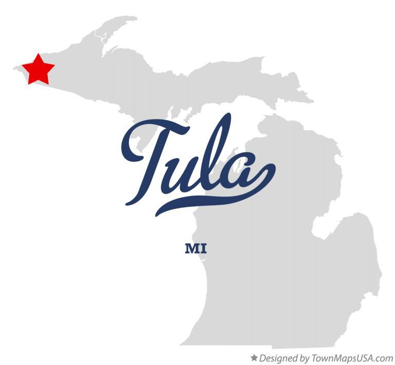 Map of Tula Michigan MI