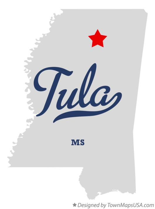 Map of Tula Mississippi MS