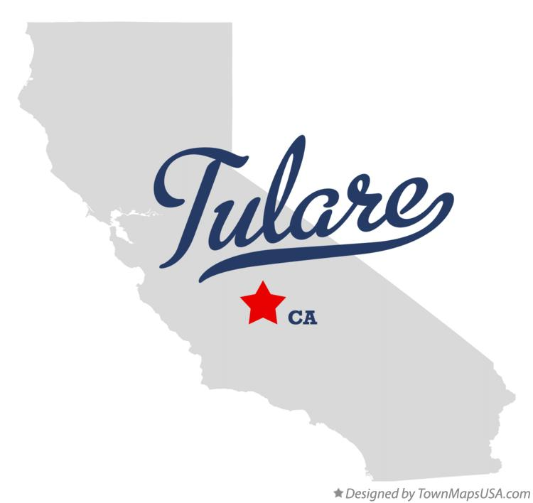 Map Of Tulare Ca Map of Tulare, CA, California