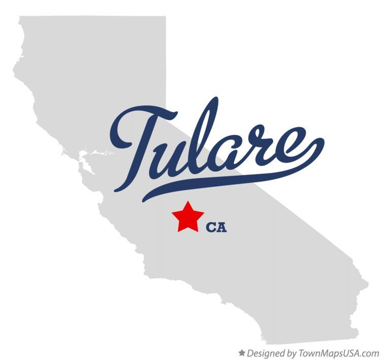 Map Of Tulare Ca Map of Tulare, CA, California