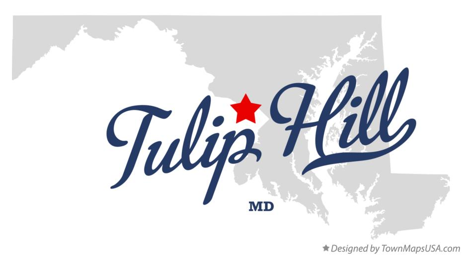 Map of Tulip Hill Maryland MD