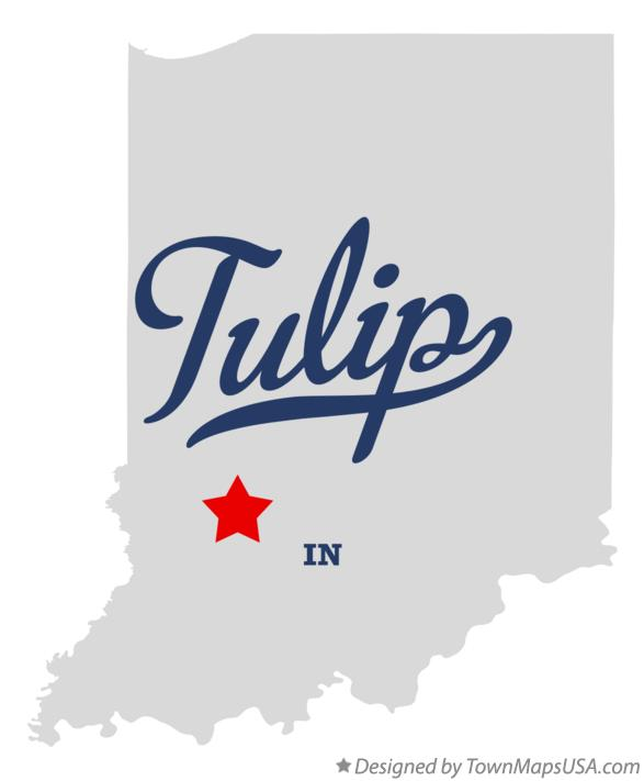 Map of Tulip Indiana IN