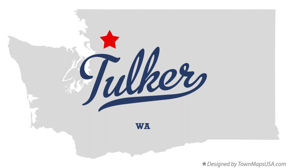 Map of Tulker Washington WA