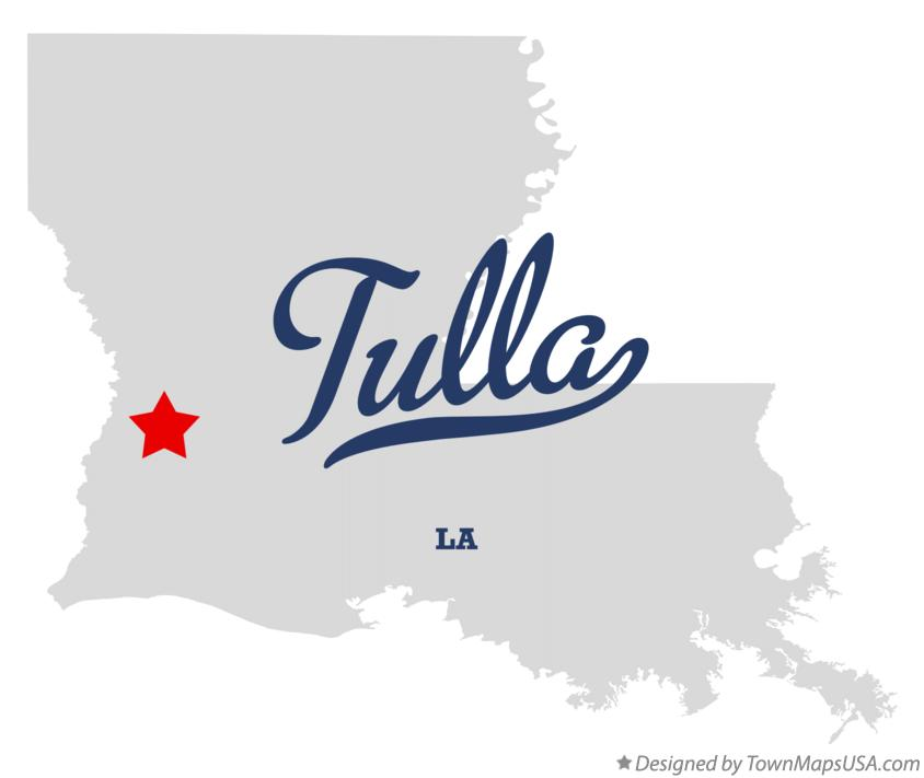 Map of Tulla Louisiana LA