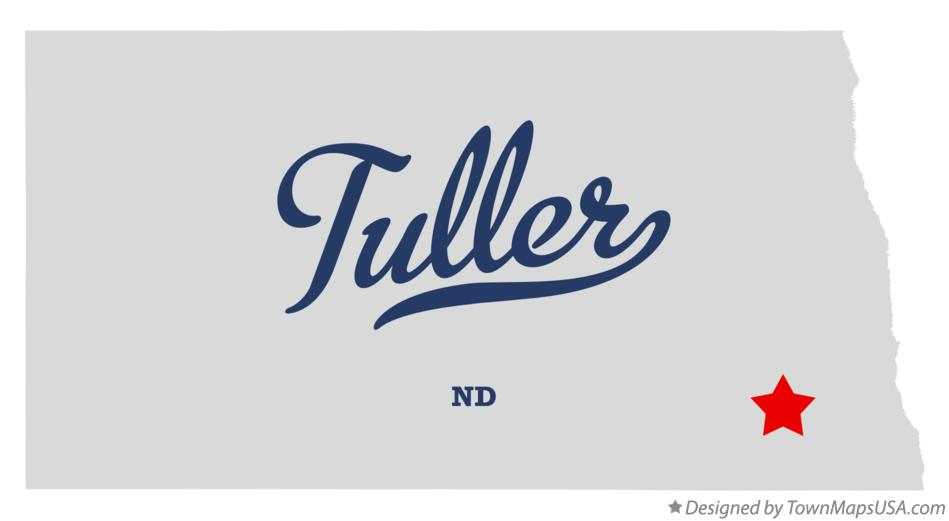 Map of Tuller North Dakota ND
