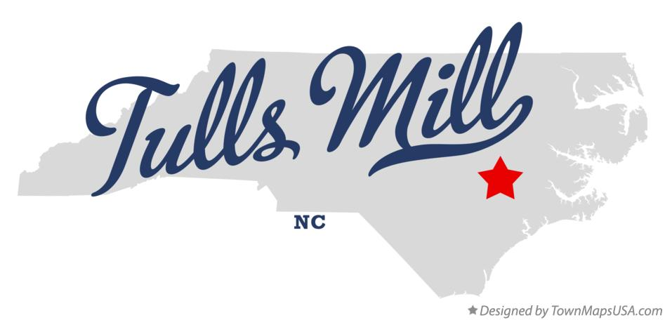 Map of Tulls Mill North Carolina NC