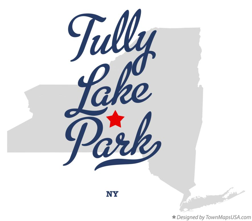 Map of Tully Lake Park New York NY