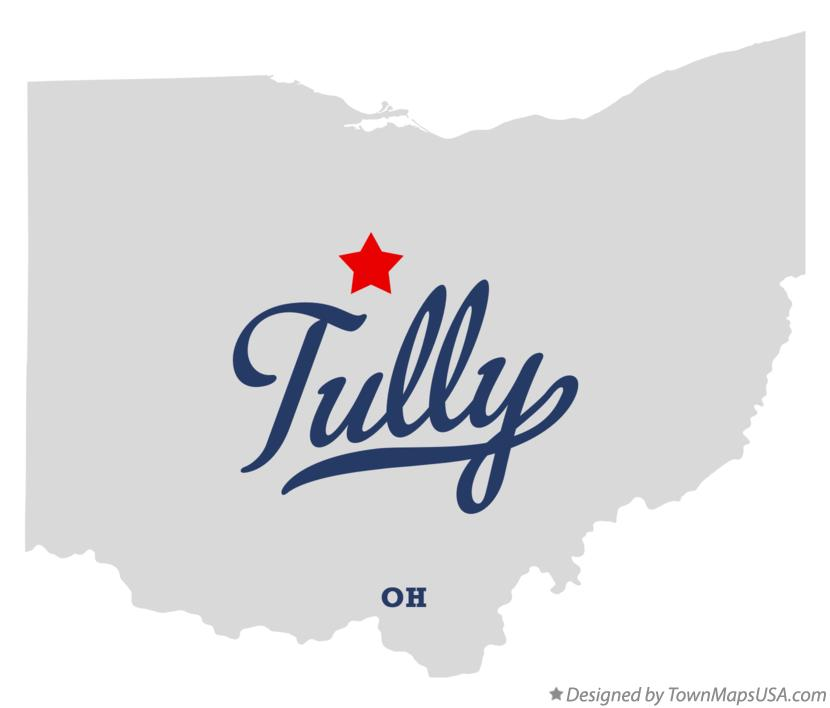 Map of Tully Ohio OH