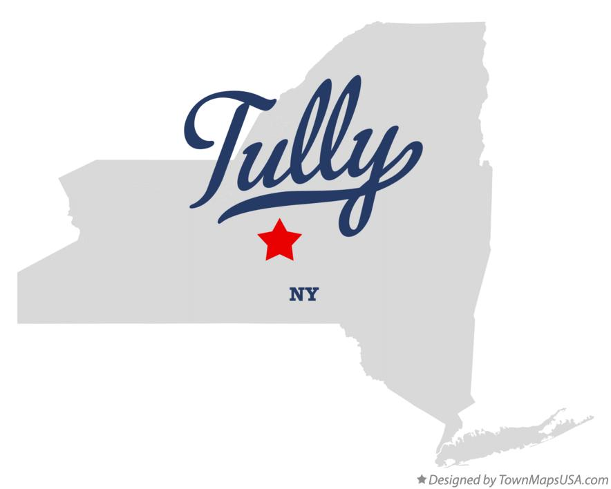 Map of Tully NY New York