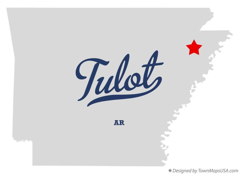 Map of Tulot Arkansas AR