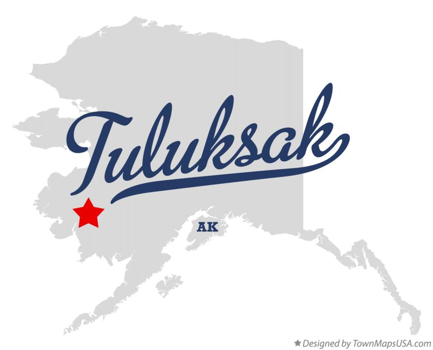 Map of Tuluksak Alaska AK