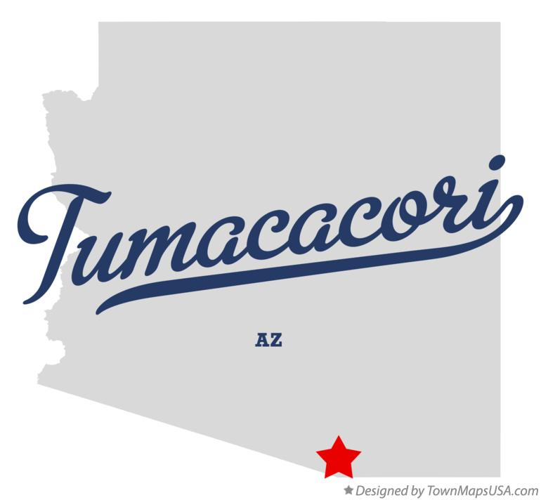 Map of Tumacacori Arizona AZ