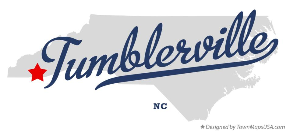 Map of Tumblerville North Carolina NC