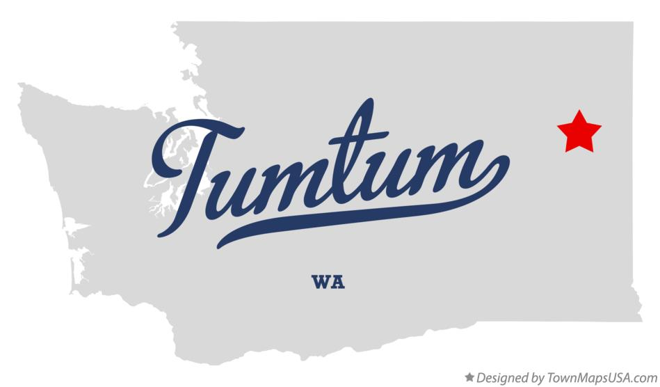 Map of Tumtum Washington WA