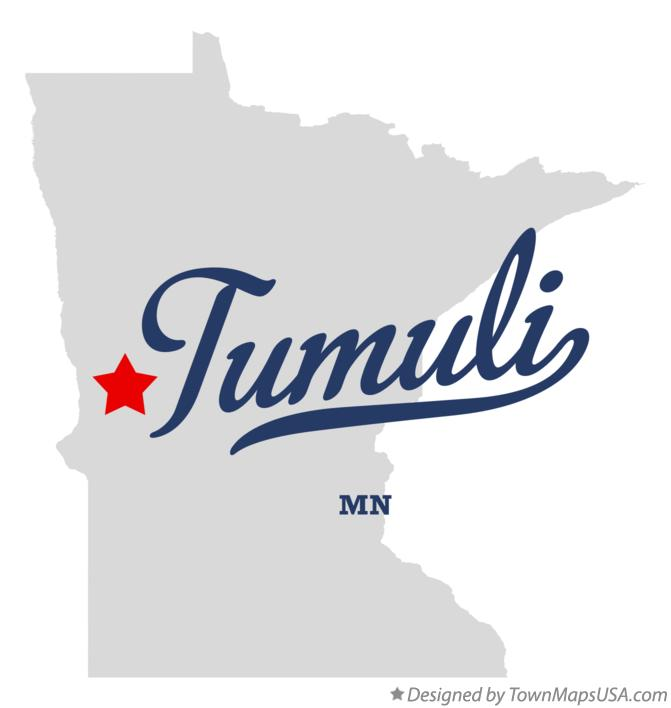 Map of Tumuli Minnesota MN
