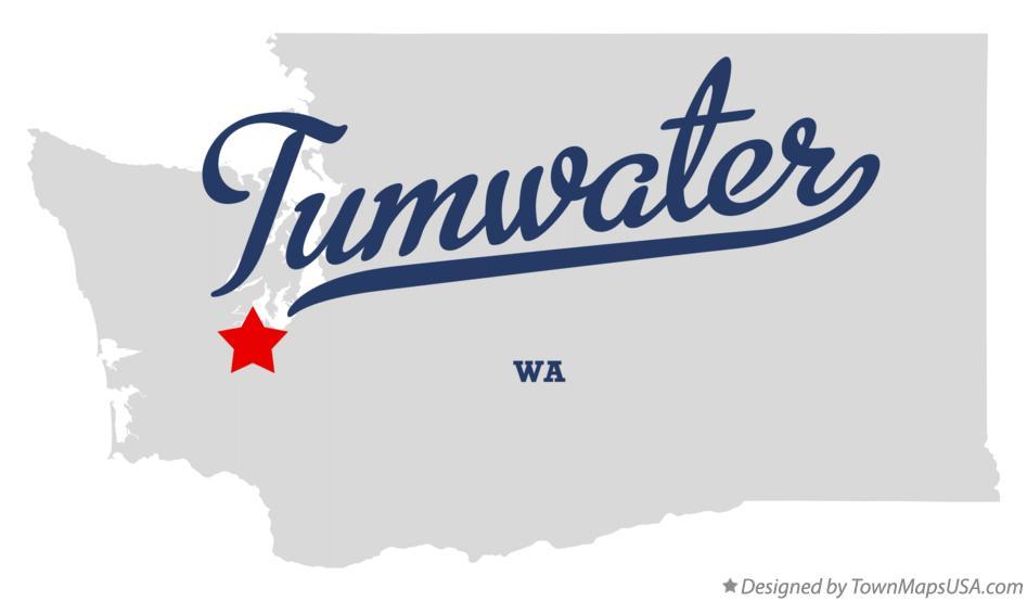 Map Of Tumwater Wa Washington