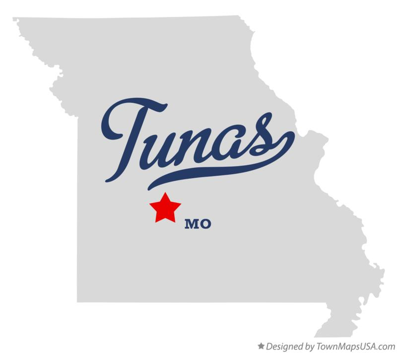Map of Tunas Missouri MO