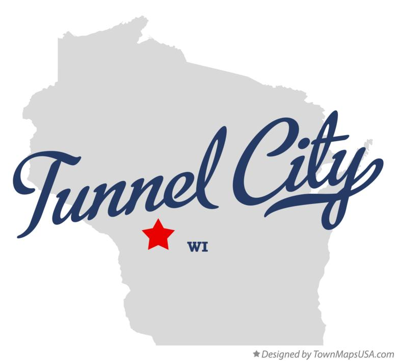Map of Tunnel City Wisconsin WI
