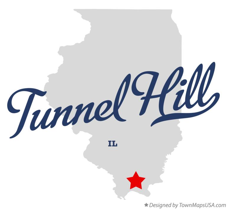 Map of Tunnel Hill, IL, Illinois