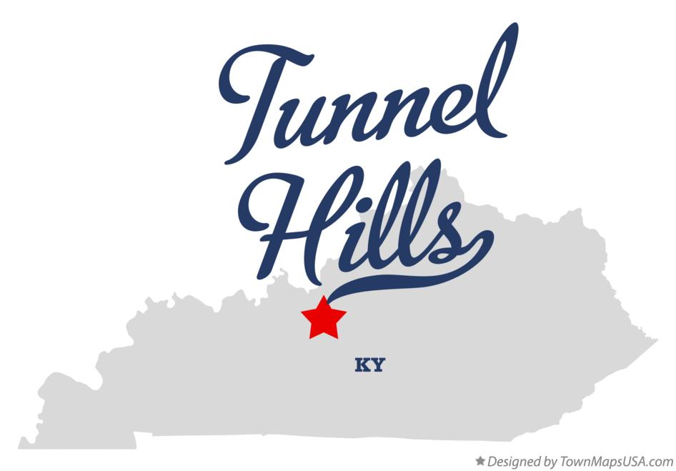 Map of Tunnel Hills Kentucky KY