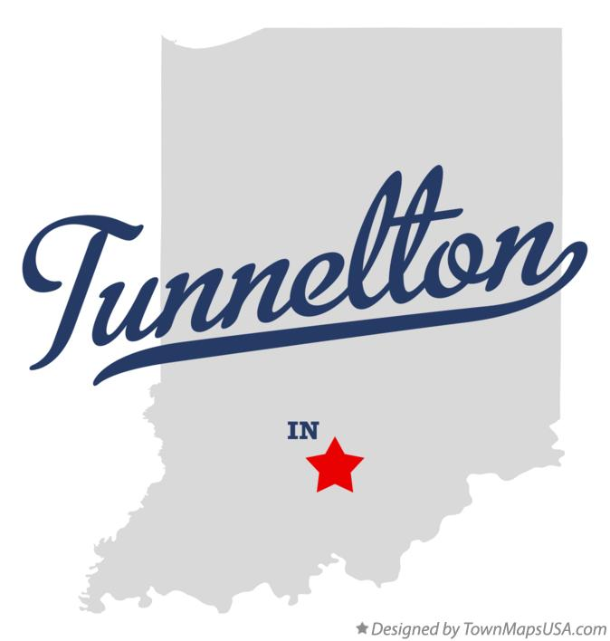 Map of Tunnelton Indiana IN