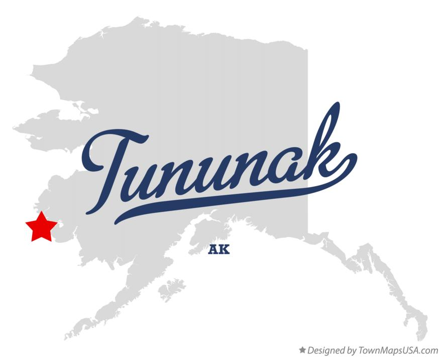 Map of Tununak Alaska AK