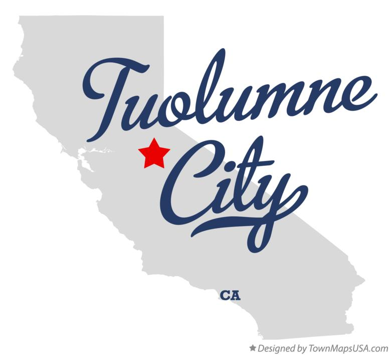 Map of Tuolumne City California CA
