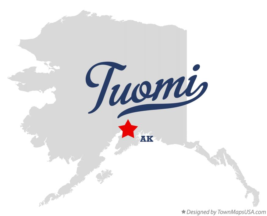 Map of Tuomi Alaska AK