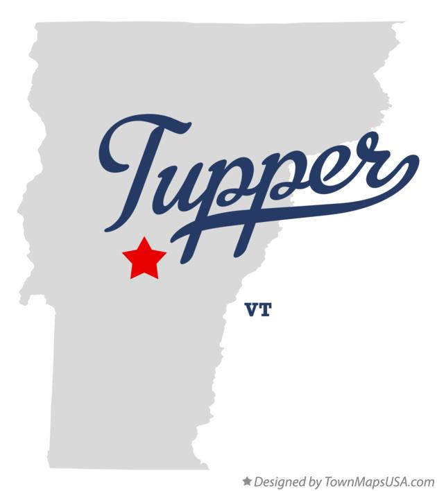 Map of Tupper Vermont VT