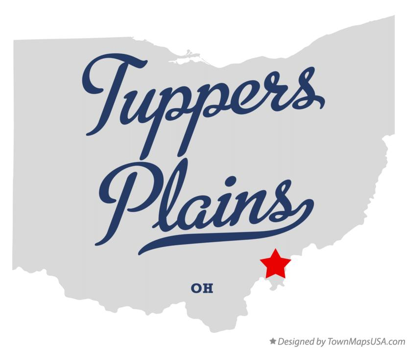 Map of Tuppers Plains Ohio OH