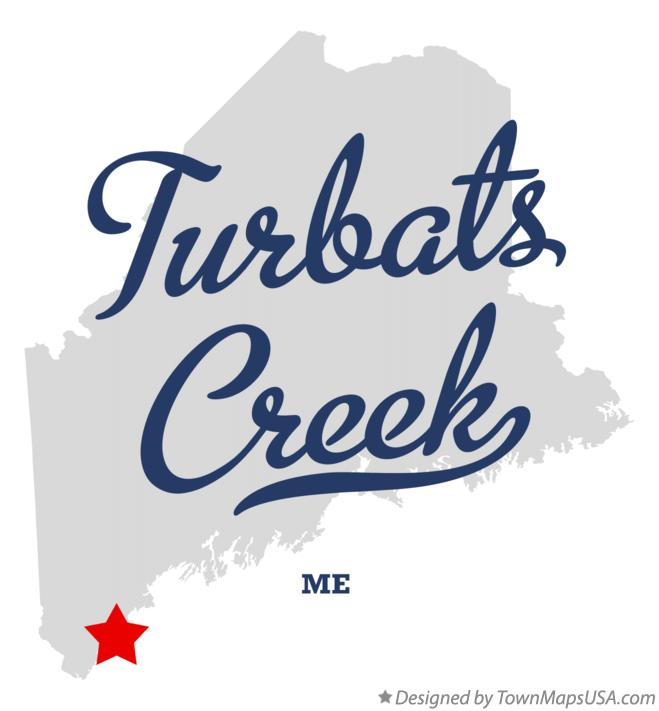 Map of Turbats Creek Maine ME