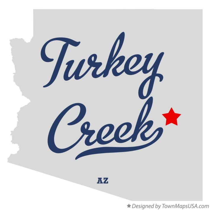 Map of Turkey Creek Arizona AZ