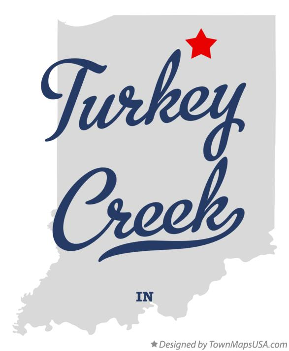 Map of Turkey Creek Indiana IN