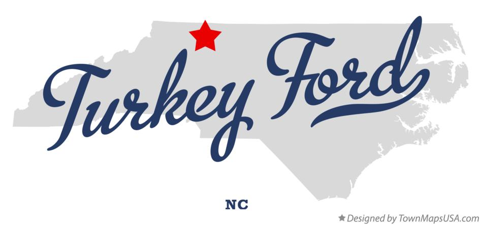 Map of Turkey Ford North Carolina NC