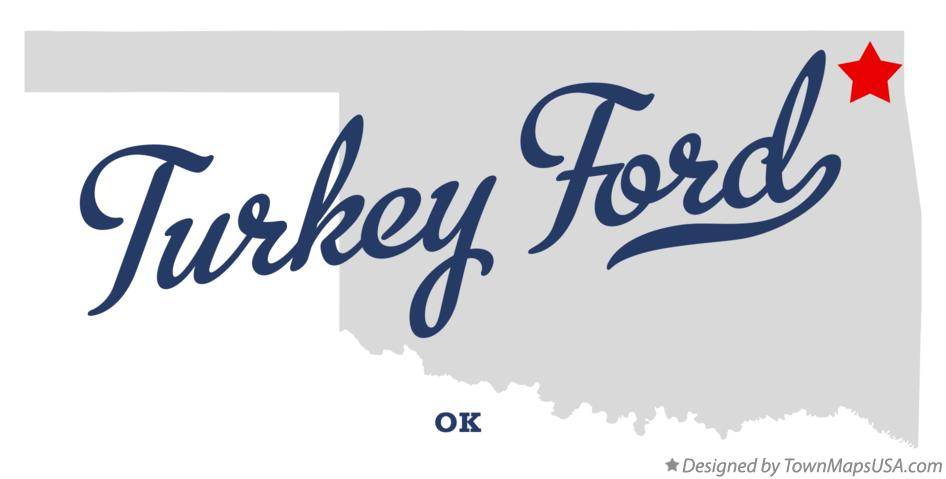 Map of Turkey Ford Oklahoma OK