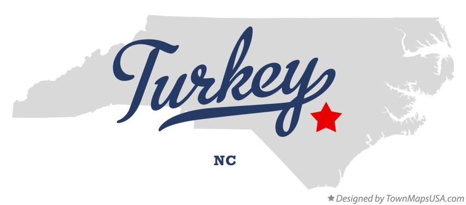 Map of Turkey North Carolina NC