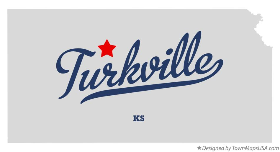 Map of Turkville Kansas KS
