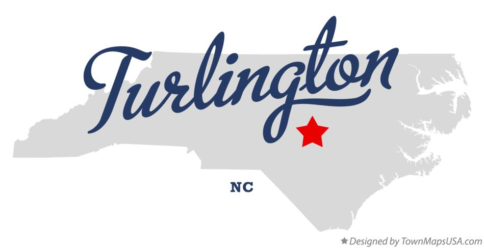 Map of Turlington North Carolina NC