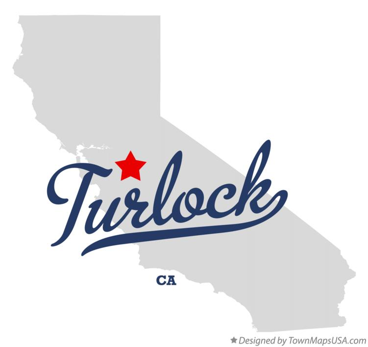 Map of Turlock California CA
